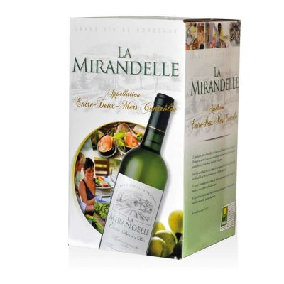 Fontaine à vin (Bag in box ou bib) blanc sec entre-deux-mers AOC
