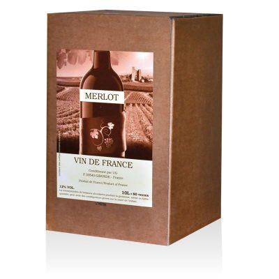 Fontaine à vin VIN DE FRANCE MERLOT